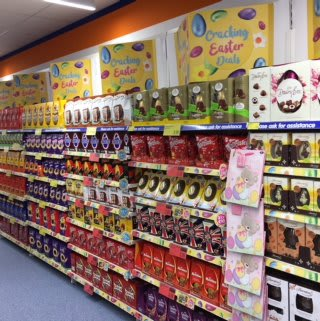 B&M's new store on London Road, Lowestoft has a hopping mad Easter section, full of Easter Eggs and other chocolate and confectionery.