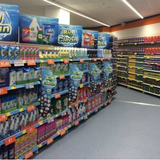 A first glimpse inside B&M's brand new Bargains store in Oldham, Spindles Shopping Centre.