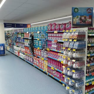 Browse B&M's cleaning range at its new store in Bishop's Stortford.