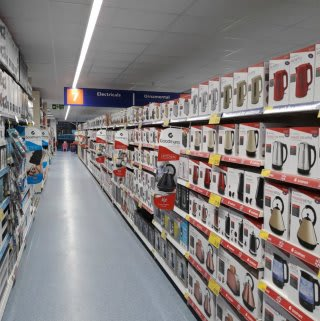 There are plenty of electricals to choose from at B&M's brand new store in Bishop's Stortford.