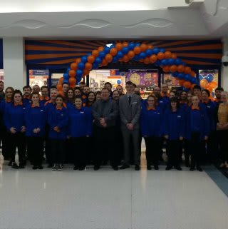 The store team at the latest B&M store at Thackeray Mall, Fareham pose outside the new Bargains Store.