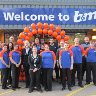 B&M Dewsbury store opening. Group shot.