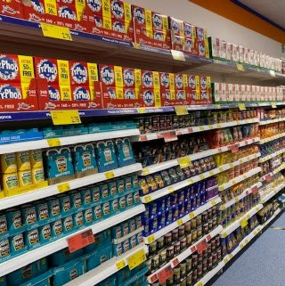 B&M's brand new store in Havant stocks a huge selection of everyday groceries, including biscuits, tinned goods and food cupboard essentials.