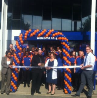 Ribbon cutting at new B&M Leytonstone store