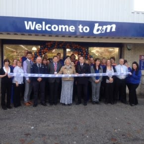 Staff at B&M Truro were joined by representatives from the RNLI and Lord Mayor Councillor, Mrs Lorrie Enthrone-Gibbons.