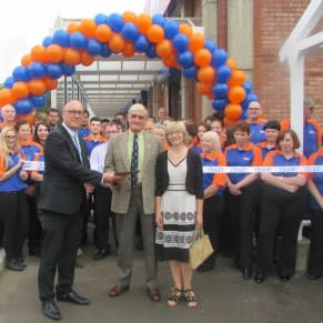 B&M Clevedon being formally opened by The Clevedon Pride Community Group who gratefully received £250 worth of B&M vouchers.