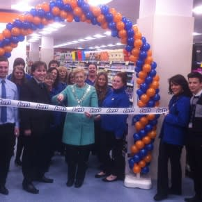 Romford store opening with the Mayor of Havering Councillor Linda Trew & Husband Graham Trew.