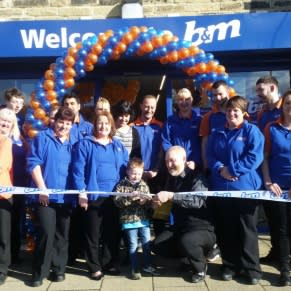 4 year old Sonny Tattersley was VIP guest for the day, opening B&M's newest store in Elland, West Yorkshire.