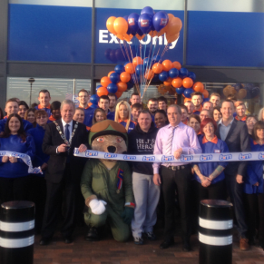 Staff at the new B&M store in Catterick were joined by Councillor Mr John Robinson who cut the ribbon at the store opening. Help for Heroes were also in attendance and received £250 worth of B&M vouchers.