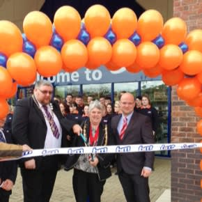 B&M Stores Aberystwyth store opening.