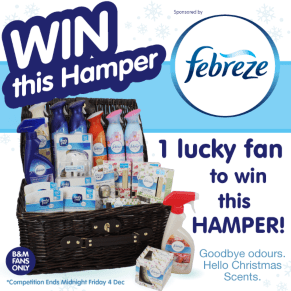 B&M BIG Giveaway - Win a Febreze Filled Hamper