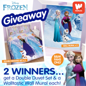 B&M's BIG Giveaway - Win a Frozen Duvet and Wall Mural