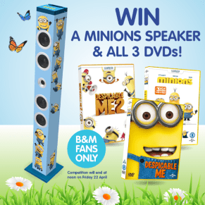 B&M's BIG Giveaway - Win a Minions Speaker and all 3 DVDs!