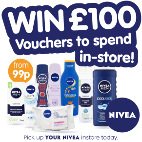 NEW Competition - Win a £100 B&M voucher thanks to NIVEA