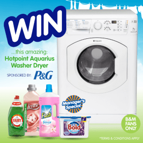 B&M's BIG Giveaway - Win a Brand New Washing Machine
