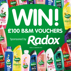 B&M BIG Giveaway - Winner of the Radox £100 B&M Voucher Competition