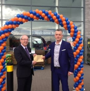 Shawn Pollard, CEO, of the charity organisation Halton Haven received £250 worth of B&M vouchers as a thank you for opening the store.