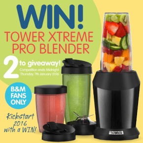 Win a Tower Xtreme Pro blender to kickstart your year!