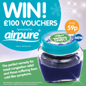 B&M's BIG Giveaway - Win a £100 B&M Voucher thanks to Airpure
