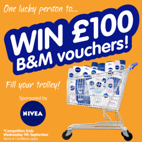 B&M's Big Giveaway - WIn a £100 Voucher