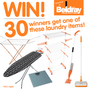 B&M's BIG Giveaway - Win one of 30 Beldray Laundry Prizes