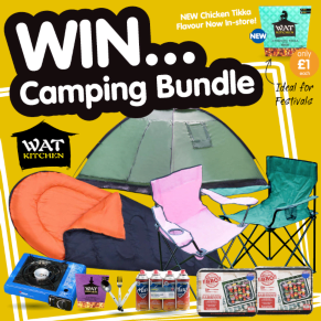 WIN a Camping Bundle thanks to WAT KITCHEN