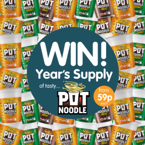 Winner of the Year's Supply of Pot Noodle