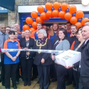 B&M Stores. Keighley store opening.