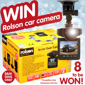 B&M's BIG Giveaway - Win a Rolson in Car Dash Camera
