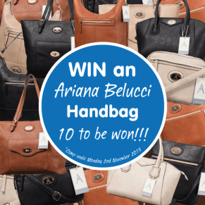 B&M's BIG Giveaway - Win one of 10 Ariana Belucci handbags!