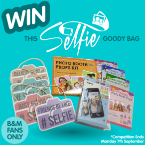 B&M's BIG Giveaway - Winner of the Selfie Goody Bag