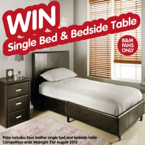 B&M's BIG GIveaway - Winner of the Single Bed and Bedside Table
