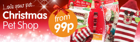 Find a great selection of Christmas treats for your pets at B&M Stores.
