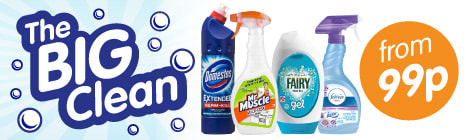The Big Clean at B&M. Big brands at big savings.