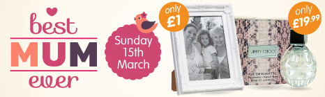 Find a great selection of gifts to treat your Mum on Mothers Day at B&M Stores.