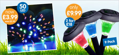 Save on Solar Lights this summer at B&M.