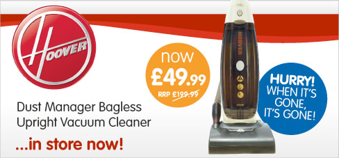 The Hoover Dust Manager Upright Vacuum Cleaner is available at B&M stores for an amazing £49.99.