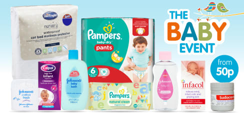 The B&M Baby Event is now on! Big savings on nappies, baby bedding and toiletries.