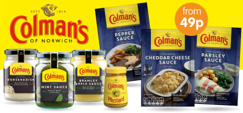 Save on Colman's at B&M.