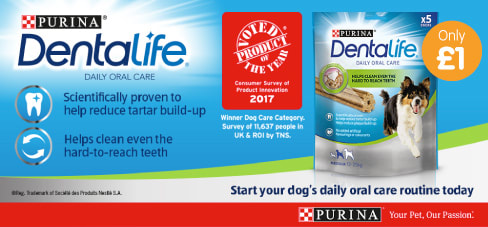 Save on Purina Dentalife at B&M.