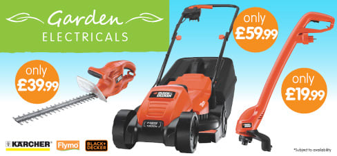Save on Garden Electricals at B&M.