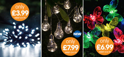 Save on Solar Lights at B&M.
