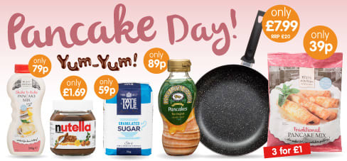 Save on Pancake Day at B&M.