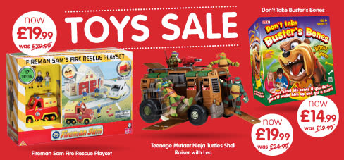 Toys clearance sale now on at B&M.