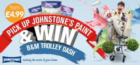Win a Trolley Dash with Johnstone's Paint.