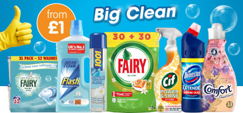 Save on Big Brand Cleaning at B&M.