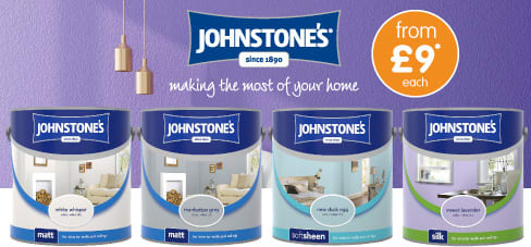 Save on Johnstone's Paint 2.5ltr Colours at B&M.