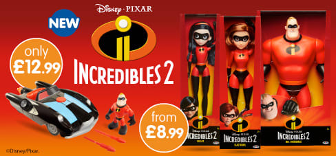 Incredibles 2 Toys now in-store at B&M.