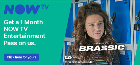 Get a 1 Month NOW TV Entertainment Pass on B&M.