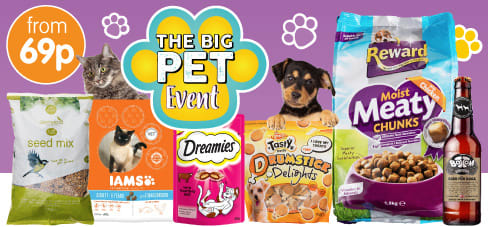 Save on the pet event at B&M.